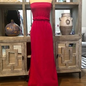 Juicy Couture Long Velour Strapless Maxi Dress